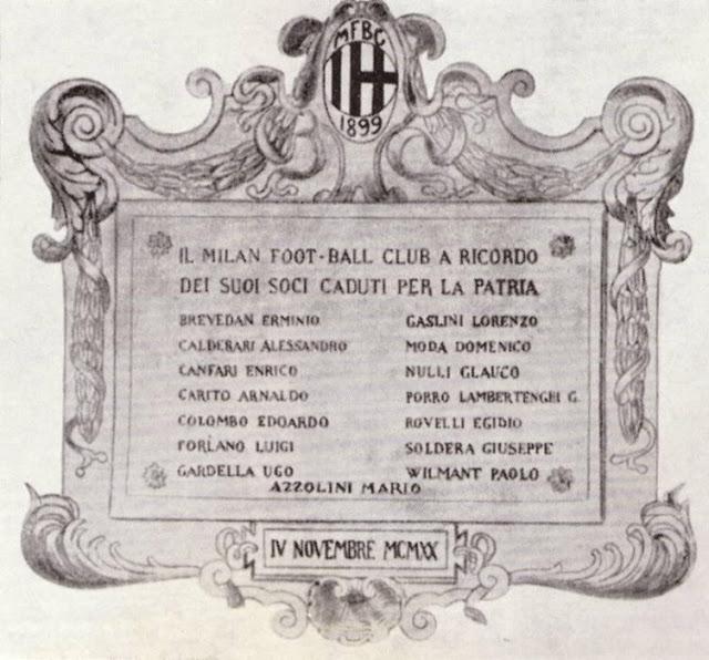 Calciatori prima guerra mondiale morti MIian